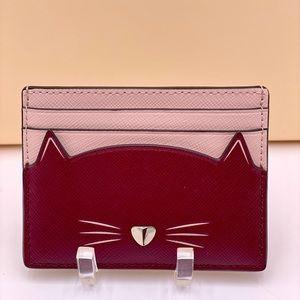 Kate Spade Meow Cat Small Slim Cardholder